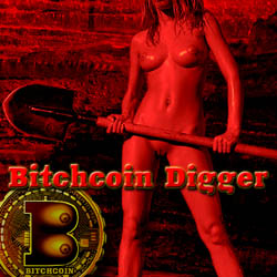 Bitchcoin Digger strip mobile game