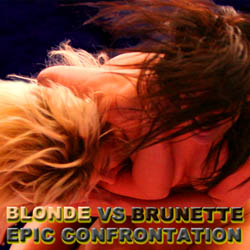 Blonde vs Brunette Epic Confrontation adult game