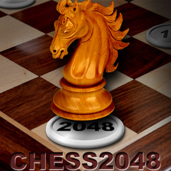 Chess2048 strip mobile game