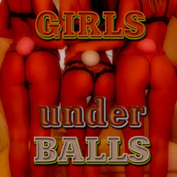 Girls under Balls adult mobile game