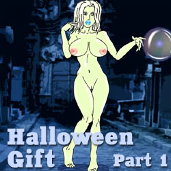 Halloween Gift Part 1 strip mobile game