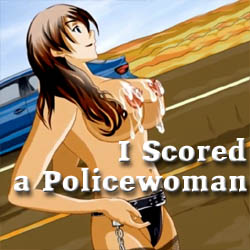 I Scored A Policewoman strip mobile game