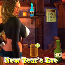 Hardcore New Year Eve adult mobile game